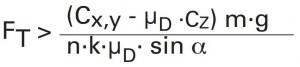 Formel zur Berechnung der Ladungssicherung